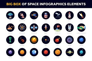 Big Box of Space Infographics Icons