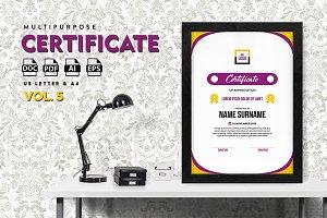 Best Multipurpose Certificate Vol 5