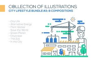 City Lifestyle Illustrations Bundle