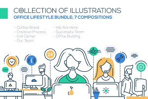 Office Lifestyle Compositions Bundle