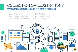 Web Services Illustrations Bundle