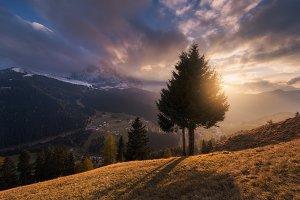 Sunset Selva di Val Gardena TIF