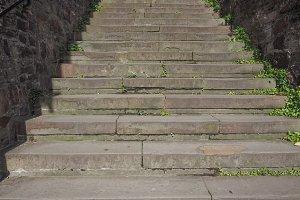 Stone stairway steps