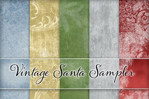 Vintage Holiday Backgrounds Set