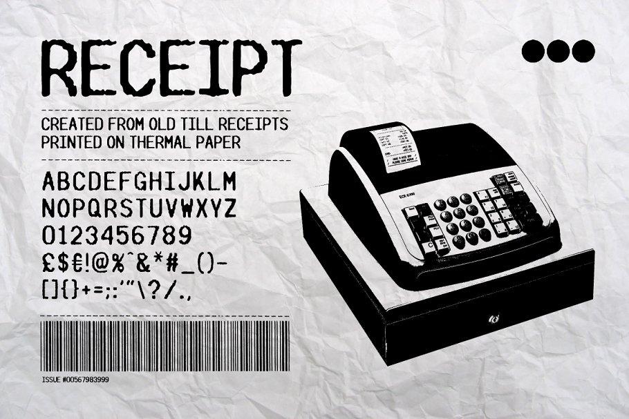 RECEIPT ~ Display Fonts ~ Creative Market