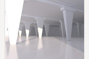 Abstract white empty interior