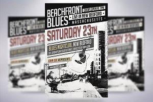 Beachfront Blues Flyer