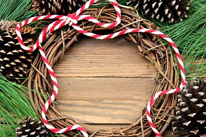 Christmas Wreath with blank center