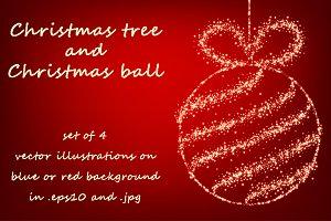 Christmas tree and Christmas ball