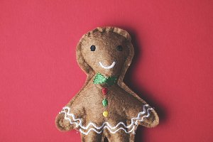 Festive gingerbread toy