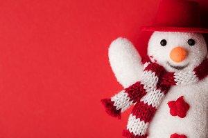 Festive winter snowman