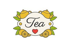 Tea label. Vector