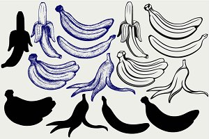 Bunch of bananas SVG