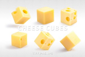 Cheese cubes set