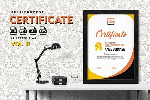 Best Multipurpose Certificate Vol 11