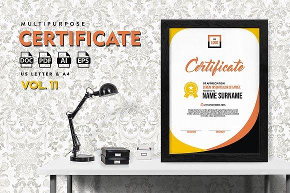 Best Multipurpose Certificate Vol 11