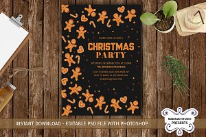 Christmas Party Invitations Card