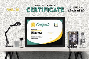 Best Multipurpose Certificate Vol 12