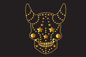 Devil vector gold and black color