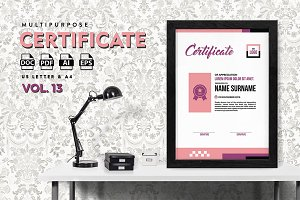 Best Multipurpose Certificate Vol 13