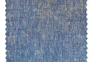 Blue jeans zigzag fabric sample