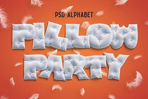 Pillow Party alphabet