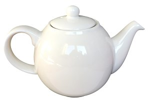 Tea pot isolated over white