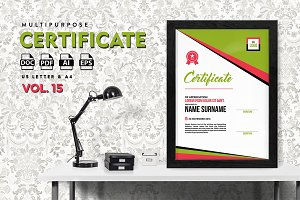 Best Multipurpose Certificate Vol 15