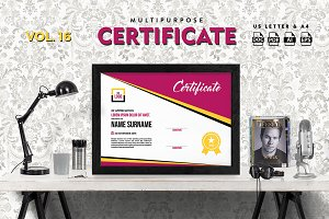 Best Multipurpose Certificate Vol 16