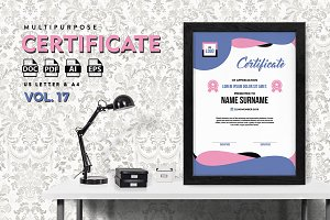 Best Multipurpose Certificate Vol 17