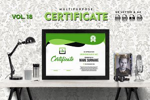 Best Multipurpose Certificate Vol 18
