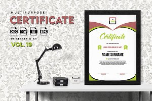 Best Multipurpose Certificate Vol 19