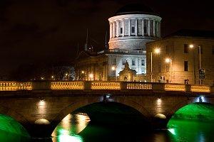 Dublin City by Night in Ireland