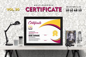 Best Multipurpose Certificate Vol 20