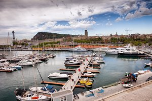Port Vell Marina in Barcelona