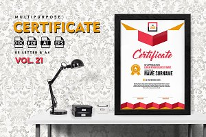Best Multipurpose Certificate Vol 21