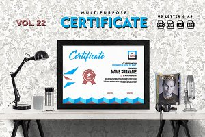 Best Multipurpose Certificate Vol 22