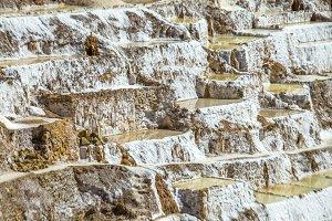 Salt mines in Peru