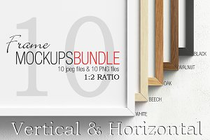 Frame mockups bundle 1&#x3B;2 ratio V&H