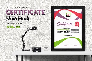 Best Multipurpose Certificate Vol 23