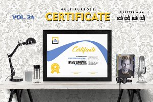 Best Multipurpose Certificate Vol 24