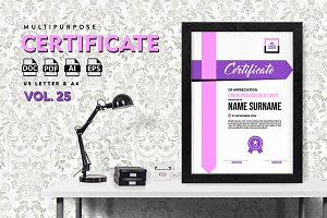 Best Multipurpose Certificate Vol 25