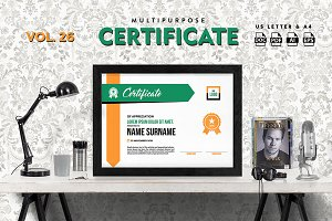 Best Multipurpose Certificate Vol 26