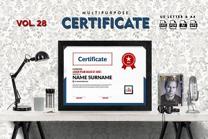 Best Multipurpose Certificate Vol 28