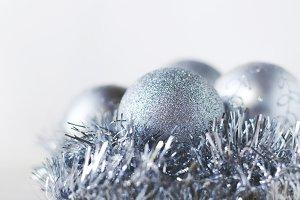 Silver balls decor