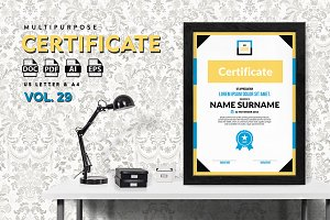 Best Multipurpose Certificate Vol 29