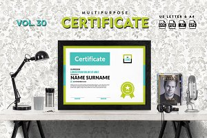 Best Multipurpose Certificate Vol 30