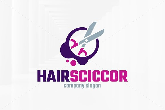Hair Scissors Logo Template