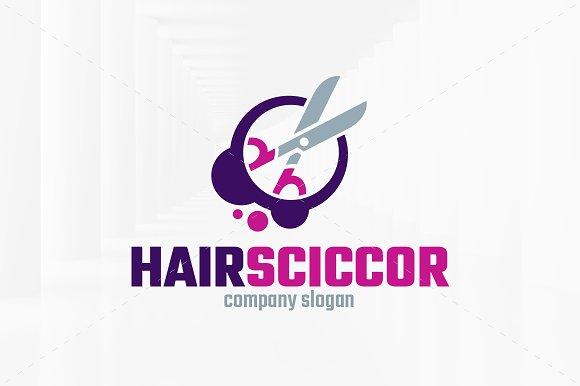 Hair Scissors Logo Template