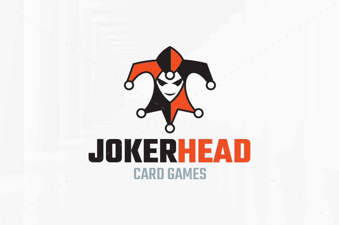 Joker card photos graphics fonts themes templates creative market joker head logo template maxwellsz